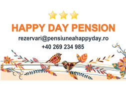 happy day pension logo and reservation informations